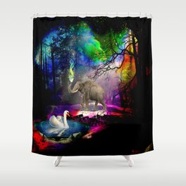 Fantasy forest Shower Curtain