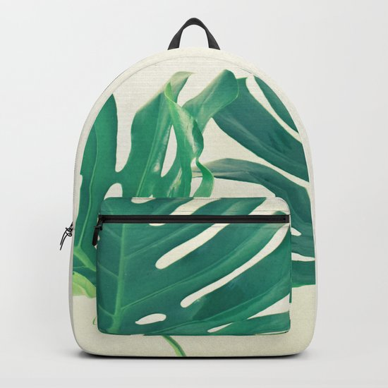 Monstera Leaves Backpack