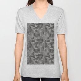 Abstract Geometrical Triangle Patterns 3 Benjamin Moore 2019 Trending Color Cinder Dark Gray AF-705 Unisex V-Neck