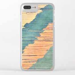 Abstract Shredded Stripes Clear iPhone Case