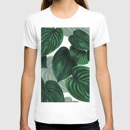 tropical green pattern T-shirt