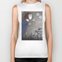 twilight Biker Tanks featuring Winter Twilight by Judith Clay
