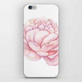Pink Peony Watercolor iPhone Skin