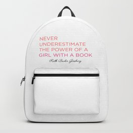 Never Underestimate A Girl With A Book  Backpack