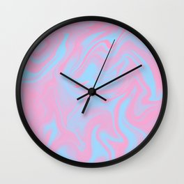 Cotton candy color melt Wall Clock