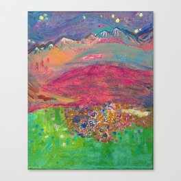 Twilight at Rock Candy Mountain Canvas Print