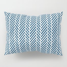 Herringbone Navy Inverse Pillow Sham