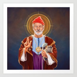 Saint Bill of Murray Art Print