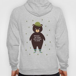 Bear in socks Hoody