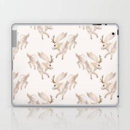 White Jackalope Laptop & iPad Skin