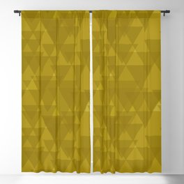 Gentle mustard triangles in the intersection and overlay. Blackout Curtain
