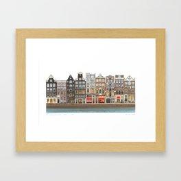 Prinsengracht Canal Amsterdam Framed Art Print