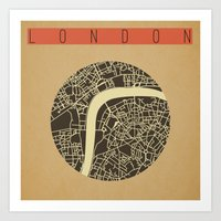 London Map Vector Art Print