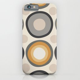 Organic Shapes on Beige iPhone Case
