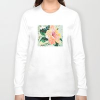hibiscus Long Sleeve T-shirts featuring Hibiscus by JeleataNicole