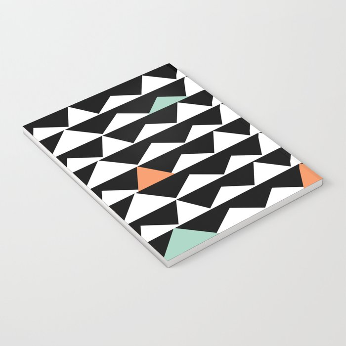 Tribal Triangles, Geometric Aztec Andes Pattern Notebook