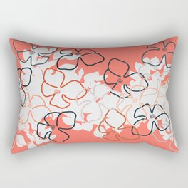 Coral Geraniums Rectangular Pillow