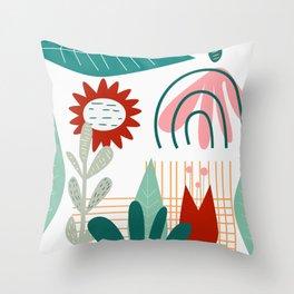Conceptual flora Throw Pillow