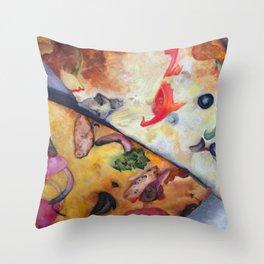Pizza Lovemaking (LARGER SIZES) Throw Pillow