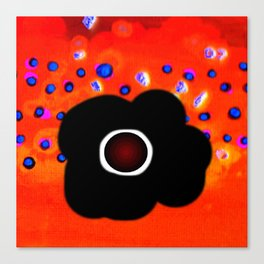 Hole and black flower Canvas Print
