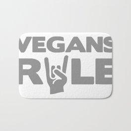 Vegans Rule Bath Mat