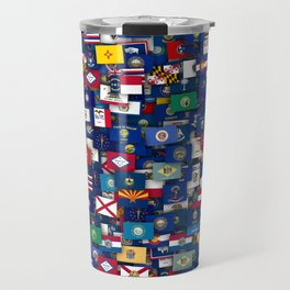 Flags of all US states Travel Mug