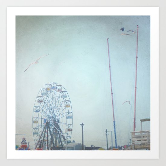 Little Carnival Town Art Print
