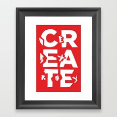 create/destroy Framed Art Print