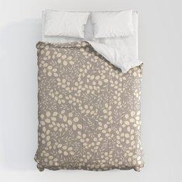 Elegant plant background. Craft paper gentle leaves Comforters