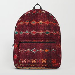 -A8- Colored Traditional Moroccan Carpet Artwork. Backpack