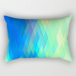 Re-Created Vertices No. 32 by Robert S. Lee Rectangular Pillow