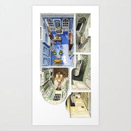 PHANTOM THREAD. Ground level of the London House Art Print