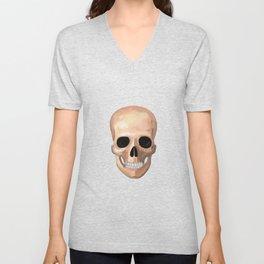 Smiling Skull Unisex V-Neck