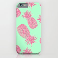 Pineapple Pattern - Mint & Crimson iPhone 6s Slim Case