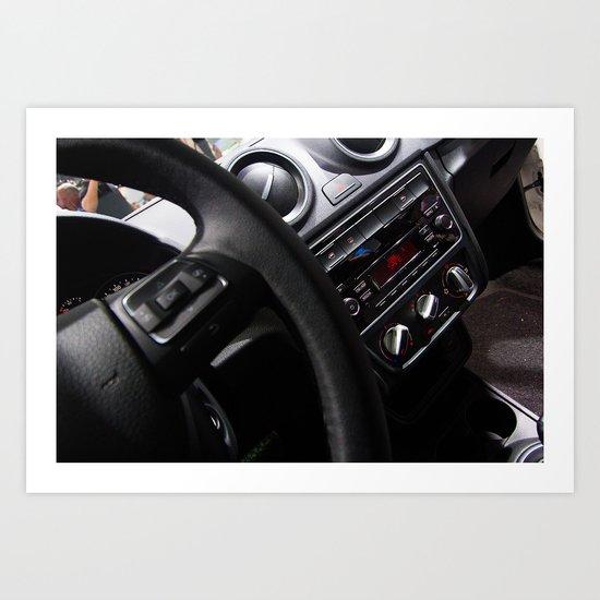 Volkswagen New Gol Power Panel Art Print