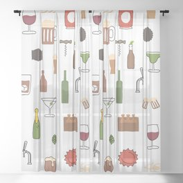 Booze Sheer Curtain
