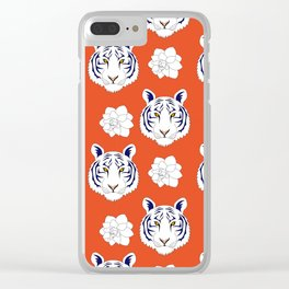 Auburn orange Clear iPhone Case