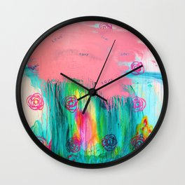 Love Cloud Wall Clock