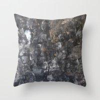 concrete Throw Pillows featuring Concrete by Crimson-daisies