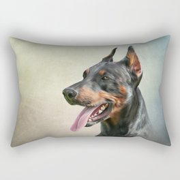 Drawing Doberman dog 2 Rectangular Pillow