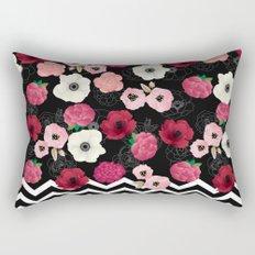 Chevron Flowers Rectangular Pillow