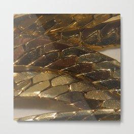 gold? chain Metal Print