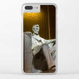 Lincoln Memorial Clear iPhone Case