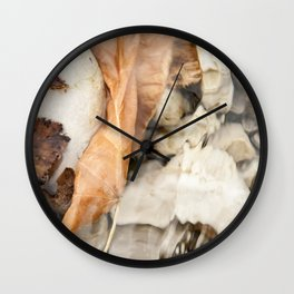 Underwater leaf Wall Clock