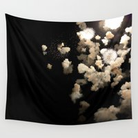 fireworks Wall Tapestries featuring Fireworks by Ivo Becker