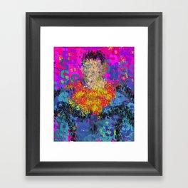 Super Type Man - Abstract Pop Art Comic Framed Art Print