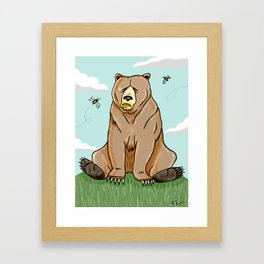 Sticky Bear Framed Art Print