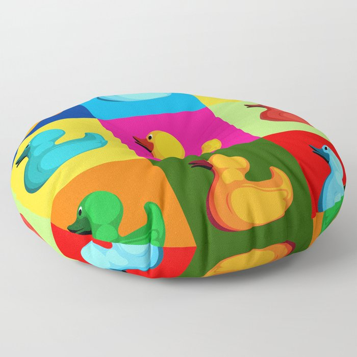 pop art duck Floor Pillow