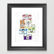 Colorful Cameras Framed Art Print