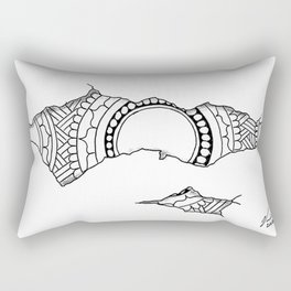 Ripped Mandala Rectangular Pillow